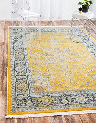 Traditionelle Havanna Bereich Teppich, gelb, 8 x 10