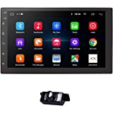 hizpo me Android 10 Universal Car GPS Navi 2 Din Car Stereo Radio with Free Backup Camera Support Bluetooth Mirror-link FM US