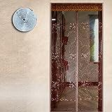 men-l-JIA Fliegengitter für Türen, moskitonetze zu Hause Stumm hochwertige magnetische Tür - mücken im Sommer.-E-140x220cm(55x87inch)