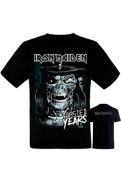 Camiseta Iron Maiden Eddie Future - Manga Corta Negra Hombre -Tshirt - Camiseta Iron: Amazon.es: Ropa y accesorios