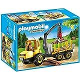 Playmobil Vida en el Bosque - Transportador de Leña con Grúa (6813)