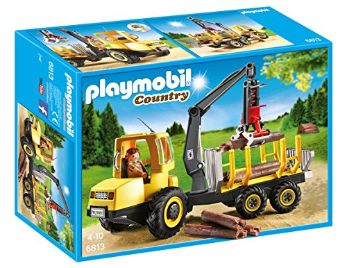 Playmobil Vida en el Bosque Transportador de Leña con Grúa (6813)