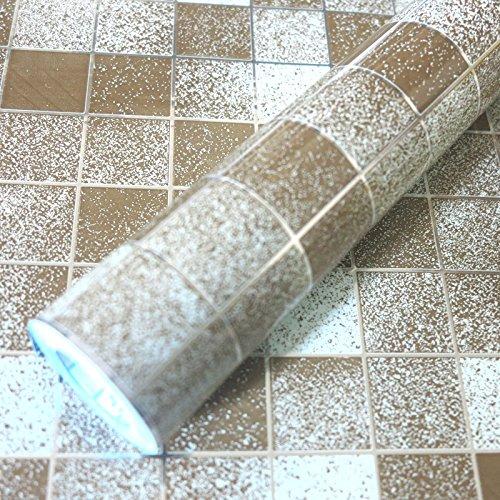 Bluelover Wallpaper Caffè Olio Mosaico Impermeabile Wall Sticker Autoadesivo di Alluminio Anti Cucina 45X500CM