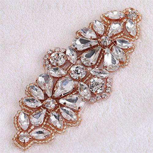 hinestone Applikation Kristall Patches mit Blumenform Perlen Linie für Kleid Kleidung Taschen Schuhe alles, was Sie wollen auf nähen (Blume Gilr Kleider)