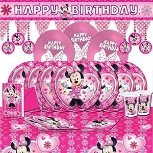 kit de d coration anniversaire minnie mouse pour 18