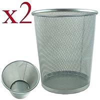 PRL Circular Mesh Bin Pack of 2 Silver