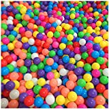 Stillshine 50 bunte Bälle / 100 bunte Bälle Farben-Ozean-Kugel, Kugel-Mehrfarben-Durchmesser 5.5cm / 7cm, Kindspielwaren-Swimmingpool-Farben-Plastikkugeln im Kinderspiel-Baby-Geschenk (100pcs, 5.5cm)