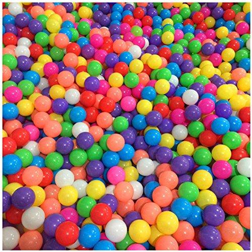 Stillshine 50 bunte Bälle / 100 bunte Bälle Farben-Ozean-Kugel, Kugel-Mehrfarben-Durchmesser 5.5cm / 7cm, Kindspielwaren-Swimmingpool-Farben-Plastikkugeln im Kinderspiel-Baby-Geschenk (100pcs, 5.5cm) - Hunde Für Bällebad