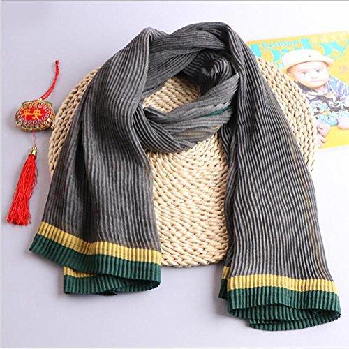 HSDMF scialle cotone Sciarpa di canapa sciarpe di colore solido coreano di grandi dimensioni , Orange brown