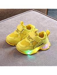 XL_etxiezi Zapatillas de niños de Color Amarillo_26