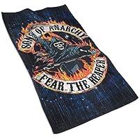 QHMY Sons of Anarchy Fear The Reaper1 Asciugamano da Bagno Morbido Sport Asciugamano Leggero 27.515.7in