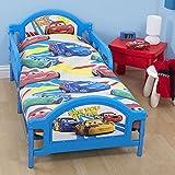 Disney Pixar Cars - Juego de Fundas nórdico/edredón Modelo Speed camas pequeñas para niños (120x150cm/Multicolor)