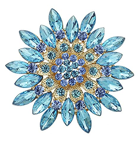 SaySure - Crystal Flower Brooch Pin Clothes Accessories