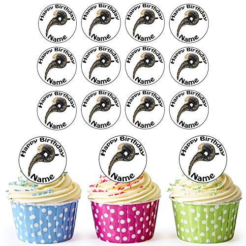 Vorgeschnittene Personalisierte Loki Maskerade Maske - Essbare Cupcake Topper / Kuchendekorationen (24 Stück)