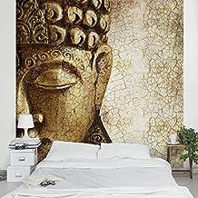 Fotomural - Vintage Buddha - Mural cuadrado papel pintado 3D fotomurales murales pared papel para pared foto mural pared barato decorativo Dimensión Alto x Ancho: 192cm x 192cm