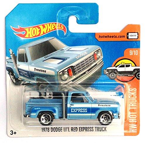 Mattel Hot Wheels - Sortiment 1:64 - Low Card (DVB72 - 1978 Dodge Li´l Red Express Truck hellblau (HW Hot Trucks 9/10))