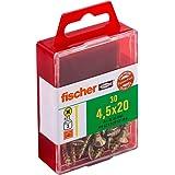 Fischer 659244 houtbouwschroef Power-F Verzonken kop 4,5x20 geel verzinkt