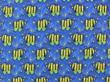 Baumwolljersey Tigerente blau, Meterware ab 0,5