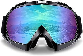 SZSMD Skibrille, Winddicht Anti-Nebel Snowboard-Schutzbrillen, Snowboardbrille, Motorradbrillen für Motorrad Fahrrad Skifahren Skaten Augenschutz