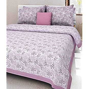 JAIPUR PRINTS Bedsheet for double bed cotton Double Bedsheet with 2 Pillow Covers