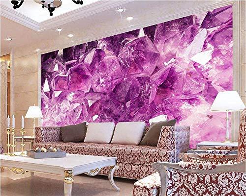 Tapete vintage 3D grau vlies küche puppenhaus amethyst stone crystal jewelry TV background wall living room bedroom background walls wallpaper (Amethyst Crystal Grünen)