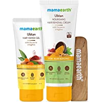 Mamaearth Ubtan Nourishing Hair Removal Cream Kit, for Sensitive Skin, Made Safe Certified with Turmeric & Saffron, with…