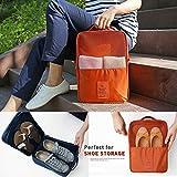 #10: Water Proof Shoe Storage Travel Tote Bag Multi-Purpose Portable Rack Foldable Organizer Wardrobe (Random Color)