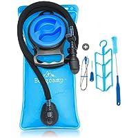 Bergcamp Trinkblase + Reinigungsset - wasserdichte Blase für den Rucksack zum Wandern, Campen oder Radfahren, geschmacklos - Trinksystem + gratis E-Book