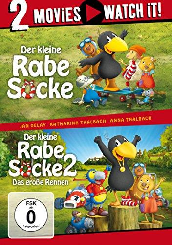 Der kleine Rabe Socke / Der kleine Rabe Socke 2 - Das große Rennen (2 DVDs)