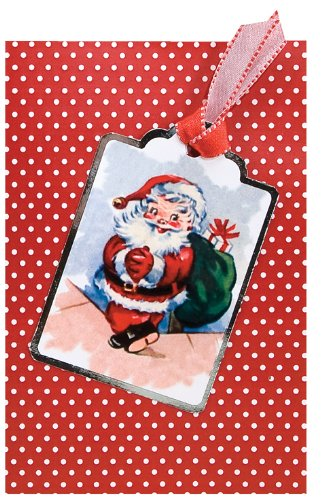 The Gift Wrap Company Vintage Clause, Box of 10 Medium Christmas Cards (995333) by The Gift Wrap Company