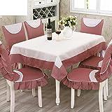 Tischdecken/Tuch/Dining Stuhl Kissen set/ European-Style-Tischdecke/ Abdeckung/Garten-Tischdecke/Stuhlhussen Kissen-Set-A 130x180cm(51x71inch)
