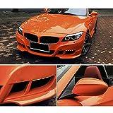 Hoho arancione lucida auto vinyl film Wrap adesivo auto pellicola protettiva vernice 152,4x 30,5cm