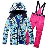 YFF Männer Ski Anzug Jacke Hose Snowboard thermische Sport tragen Wasserdicht Winddicht, Farbe 7, XXXL