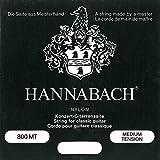 Hannabach 652377 Série 800 Cordes pour Guitare Classique Medium Tension Argenté
