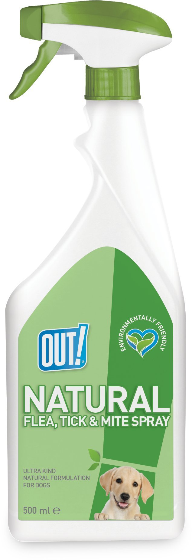 OUT! Natural Flea, Tick and Mite Treatment Spray, 500 ml