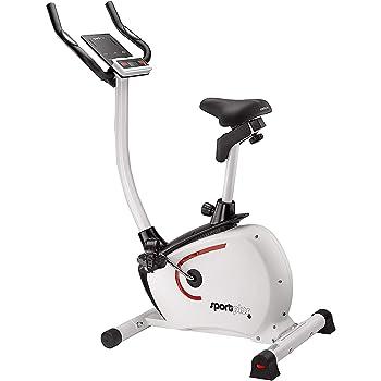 SportPlus Cyclette con Controllo App, Google Street View, Sistema Frenante Magnetico Silenzioso con Controllo Motorizzato, Peso Utente Max 110 kg, Porta Tablet, Home Trainer, Sicurezza Testata