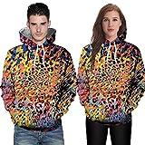 DIANDGE Hoodie,Bauchfreie Pullover Liebhaber Lässig Herbst Winter 3D Printing Langarm Hoodies Sweatshirt Bluse
