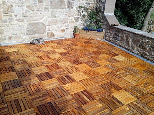 N° legno piastrelle u quadrata in legno ponte piastrelle