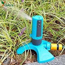 Saver Daye auto rotación de 350 grados herramienta de riego por aspersión del césped de jardín regulable pulverización