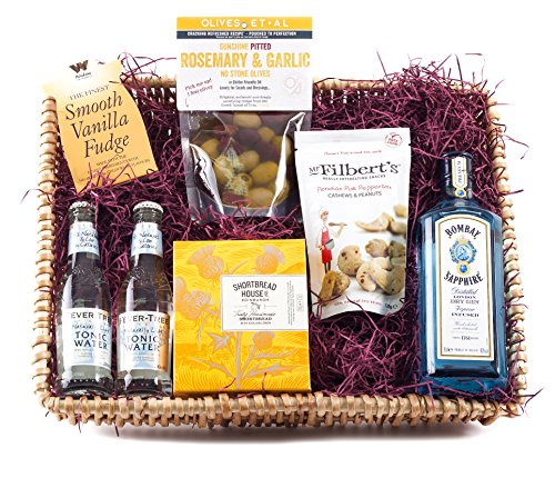 Bombay Sapphire Gin Hamper | Wickers Gift Baskets