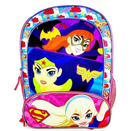 Girls Batgirl, Wonder Women and Supergirl Backpack ()