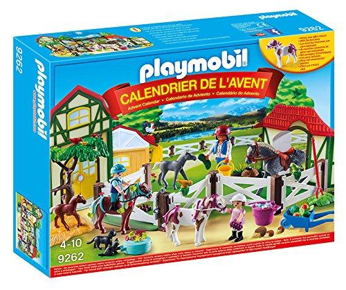 Playmobil 9262 - Calendario dell'Avvento Una Giornata al Maneggio, Multicolore