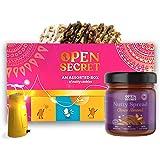 Open Secret Hamper- 12 Chocolate Handmade Nutty Snack Cookies in Celebration Gift Box + 1 Choco Almond Spread + Festive Light