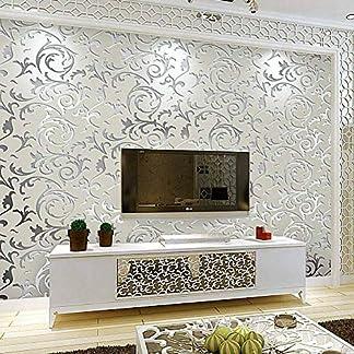 Papel de pared, diseño de arte 3D de lujo, papel de pared de forro polar, estilo barroco en relieve, no tejido, rollos de papel de pared decorativos de alta calidad