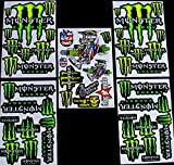 * 5 BLATT AUFKLEBER VINYL nGB/ MOTOCROSS STICKERS BMX BIKE PRE CUT STICKER BOMB PACK METAL ROCKSTAR ENERGY SCOOTER