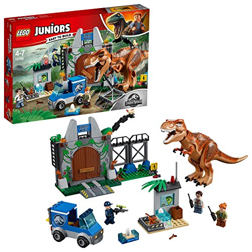 LEGO  Juniors Ausbruch des Tyrannosaurus Rex 10758 Konstruktionsspielzeug (City Park Lego)