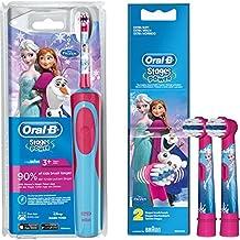 Oral-B Stages Power Advance Power Kids 900 TX  - Conjunto de cepillo de dientes eléctrico para niños (incluye 2 cabezales de recambio), diseño de Frozen