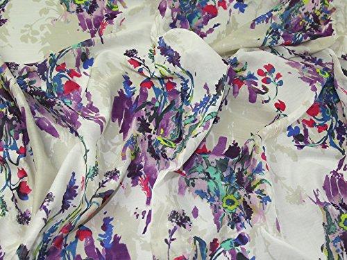 Lady McElroy Conceptual Art Print Baumwolle & Seide Voile Kleid Stoff bunt - Meterware - Baumwolle-seide Voile