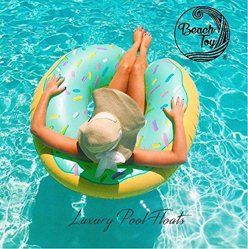 Beach Toy ® - Gigante Galleggiante gonfiabile ciambella / Donut Blu, Pool party speciale