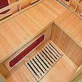 Home Deluxe – Infrarotkabine – Redsun XL – Keramikstrahler– Holz: Hemlocktanne - Maße: 155 x 120 x 190 cm – inkl. vielen Extras und komplettem Zubehör - 4